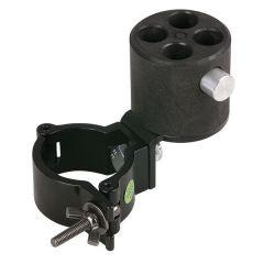 WENTEX ANGLED BRACKET WITH 4-WAY CON. Pipe & Drape & 50mm Halbkupplung