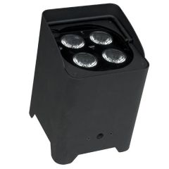 SHOWTEC EVENTLITE 4/10 Q4 Batteriebetriebene Strahler inkl. Wireless DMX, Schwarz
