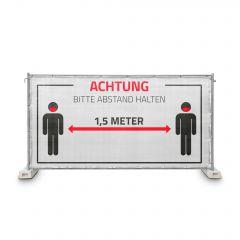 Hinweisblende Bitte Abstand halten Gaze Typ 800 1,76 x 3,41 m, geöst, weiß